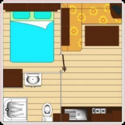 Mobil home CONFORT 4 personnes 1 chambre plan