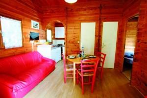 Chalet Bois 5 personnes 2 chambres intérieur